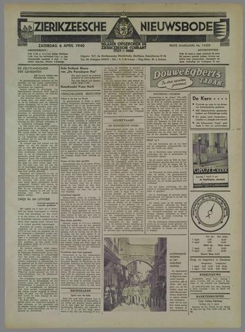 Zierikzeesche Nieuwsbode 1940-04-06