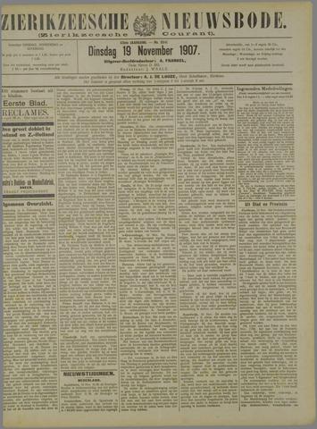 Zierikzeesche Nieuwsbode 1907-11-19