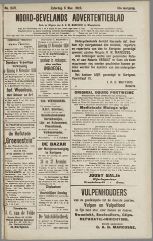 Noord-Bevelands Nieuws- en advertentieblad 1926-11-06