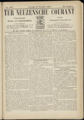 Ter Neuzensche Courant. Algemeen Nieuws- en Advertentieblad voor Zeeuwsch-Vlaanderen / Neuzensche Courant ... (idem) / (Algemeen) nieuws en advertentieblad voor Zeeuwsch-Vlaanderen 1880-11-13