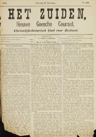 Het Zuiden, Christelijk-historisch blad 1885-11-28
