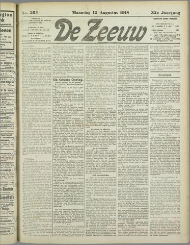 De Zeeuw. Christelijk-historisch nieuwsblad voor Zeeland 1918-08-12