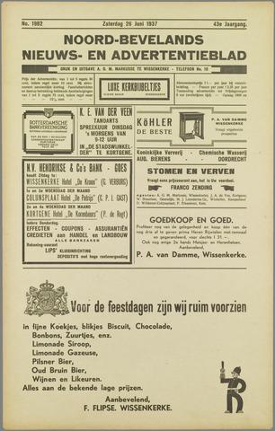Noord-Bevelands Nieuws- en advertentieblad 1937-06-26