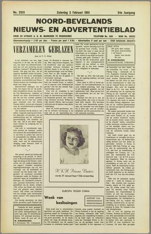 Noord-Bevelands Nieuws- en advertentieblad 1951-02-03
