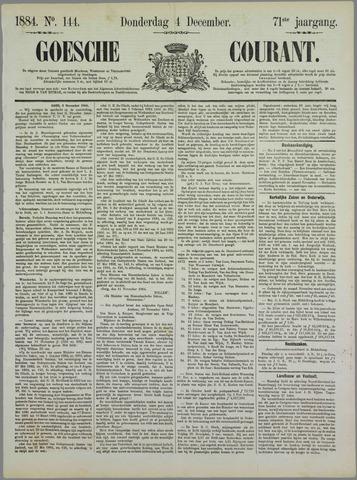 Goessche Courant 1884-12-04