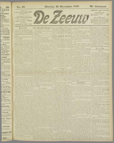 De Zeeuw. Christelijk-historisch nieuwsblad voor Zeeland 1916-12-19