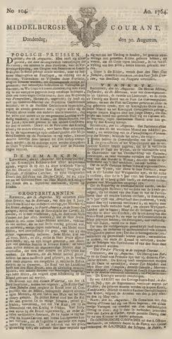 Middelburgsche Courant 1764-08-30