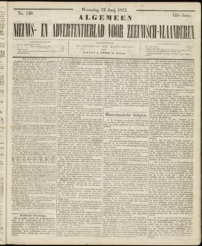 Ter Neuzensche Courant. Algemeen Nieuws- en Advertentieblad voor Zeeuwsch-Vlaanderen / Neuzensche Courant ... (idem) / (Algemeen) nieuws en advertentieblad voor Zeeuwsch-Vlaanderen 1872-06-12