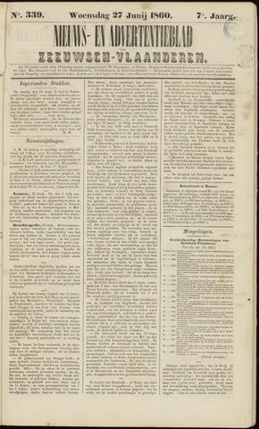 Ter Neuzensche Courant. Algemeen Nieuws- en Advertentieblad voor Zeeuwsch-Vlaanderen / Neuzensche Courant ... (idem) / (Algemeen) nieuws en advertentieblad voor Zeeuwsch-Vlaanderen 1860-06-27