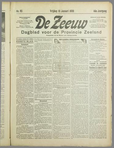 De Zeeuw. Christelijk-historisch nieuwsblad voor Zeeland 1930-01-10