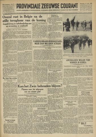 Provinciale Zeeuwse Courant 1950-07-24