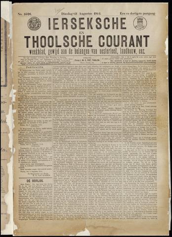 Ierseksche en Thoolsche Courant 1914-08-11