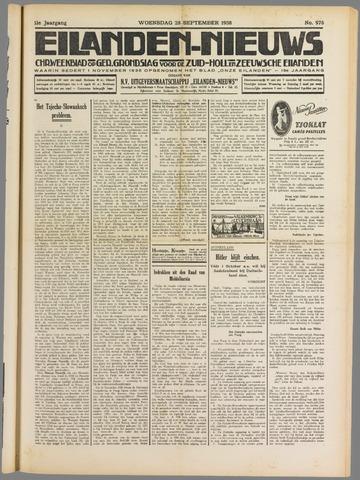 Eilanden-nieuws. Christelijk streekblad op gereformeerde grondslag 1938-09-28