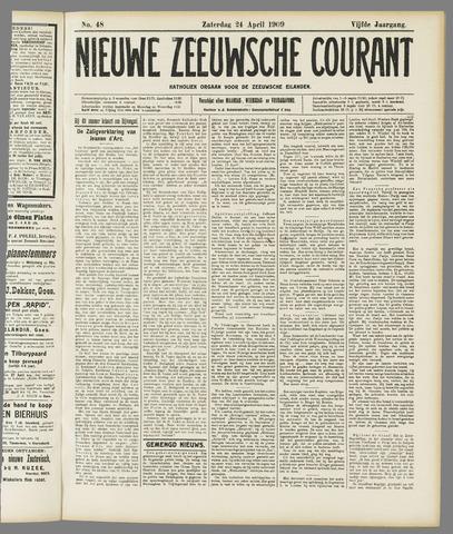 Nieuwe Zeeuwsche Courant 1909-04-24