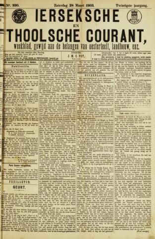 Ierseksche en Thoolsche Courant 1903-03-28