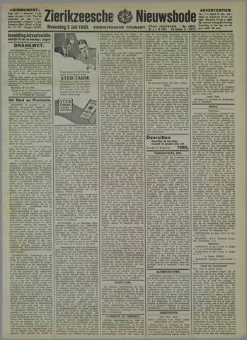 Zierikzeesche Nieuwsbode 1930-07-02