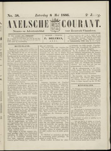 Axelsche Courant 1886-05-08