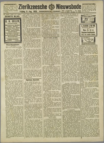 Zierikzeesche Nieuwsbode 1922-08-11