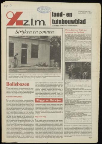 Zeeuwsch landbouwblad ... ZLM land- en tuinbouwblad 1981-06-19