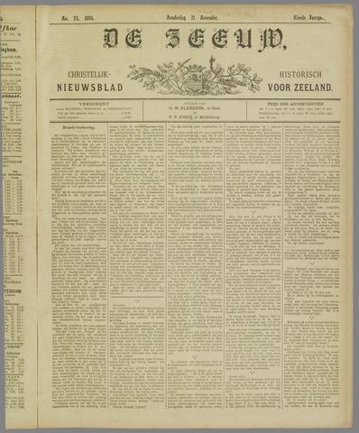 De Zeeuw. Christelijk-historisch nieuwsblad voor Zeeland 1895-11-21