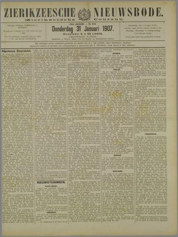 Zierikzeesche Nieuwsbode 1907-01-31