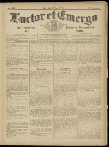Luctor et Emergo. Antirevolutionair nieuws- en advertentieblad voor Zeeland / Zeeuwsch-Vlaanderen. Orgaan ter verspreiding van de christelijke beginselen in Zeeuwsch-Vlaanderen 1917-04-28