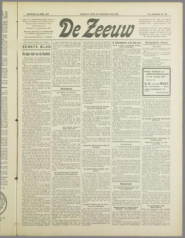 De Zeeuw. Christelijk-historisch nieuwsblad voor Zeeland 1937-04-24