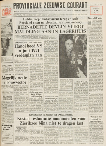 Provinciale Zeeuwse Courant 1972-02-01