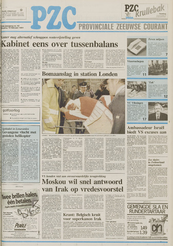 Provinciale Zeeuwse Courant 1991-02-19