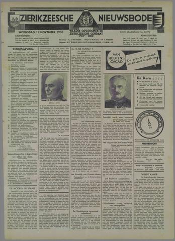 Zierikzeesche Nieuwsbode 1936-11-11