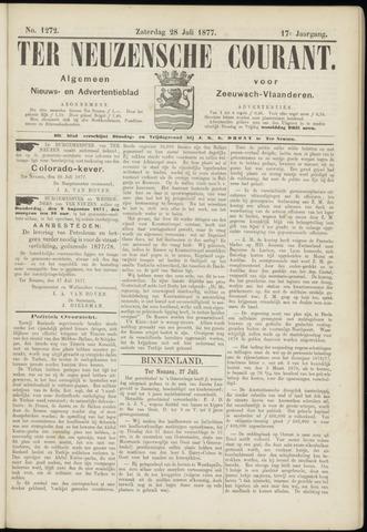 Ter Neuzensche Courant. Algemeen Nieuws- en Advertentieblad voor Zeeuwsch-Vlaanderen / Neuzensche Courant ... (idem) / (Algemeen) nieuws en advertentieblad voor Zeeuwsch-Vlaanderen 1877-07-28