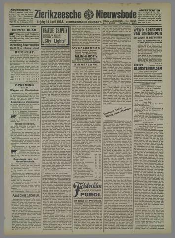 Zierikzeesche Nieuwsbode 1933-04-14