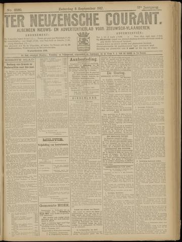 Ter Neuzensche Courant. Algemeen Nieuws- en Advertentieblad voor Zeeuwsch-Vlaanderen / Neuzensche Courant ... (idem) / (Algemeen) nieuws en advertentieblad voor Zeeuwsch-Vlaanderen 1917-09-08