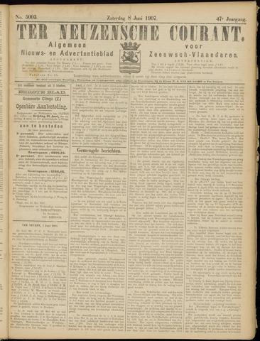 Ter Neuzensche Courant. Algemeen Nieuws- en Advertentieblad voor Zeeuwsch-Vlaanderen / Neuzensche Courant ... (idem) / (Algemeen) nieuws en advertentieblad voor Zeeuwsch-Vlaanderen 1907-06-08