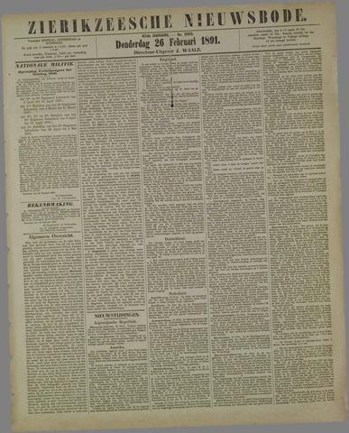 Zierikzeesche Nieuwsbode 1891-02-26