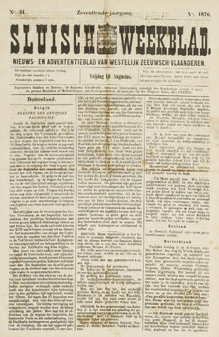 Sluisch Weekblad. Nieuws- en advertentieblad voor Westelijk Zeeuwsch-Vlaanderen 1876-08-18