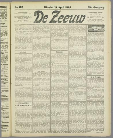 De Zeeuw. Christelijk-historisch nieuwsblad voor Zeeland 1924-04-15