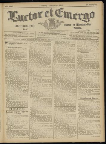 Luctor et Emergo. Antirevolutionair nieuws- en advertentieblad voor Zeeland / Zeeuwsch-Vlaanderen. Orgaan ter verspreiding van de christelijke beginselen in Zeeuwsch-Vlaanderen 1913-11-01