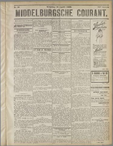 Middelburgsche Courant 1922-04-14