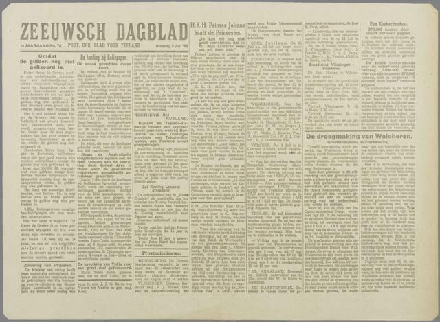 Zeeuwsch Dagblad 1945-07-03