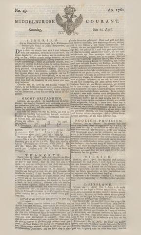 Middelburgsche Courant 1762-04-24