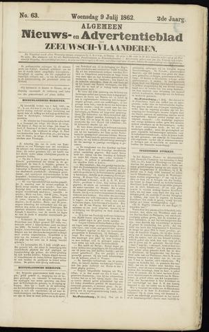 Ter Neuzensche Courant. Algemeen Nieuws- en Advertentieblad voor Zeeuwsch-Vlaanderen / Neuzensche Courant ... (idem) / (Algemeen) nieuws en advertentieblad voor Zeeuwsch-Vlaanderen 1862-07-09