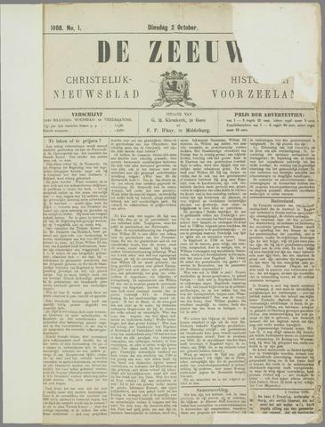 De Zeeuw. Christelijk-historisch nieuwsblad voor Zeeland 1888-10-02