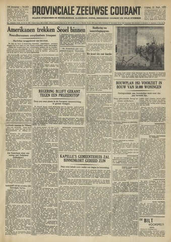 Provinciale Zeeuwse Courant 1950-09-22