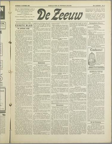 De Zeeuw. Christelijk-historisch nieuwsblad voor Zeeland 1934-10-06