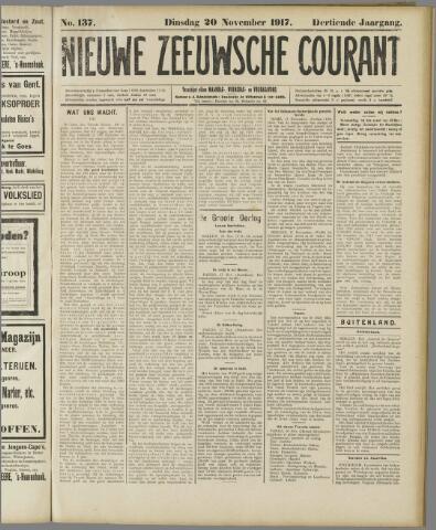 Nieuwe Zeeuwsche Courant 1917-11-20