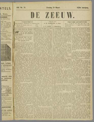 De Zeeuw. Christelijk-historisch nieuwsblad voor Zeeland 1891-03-24