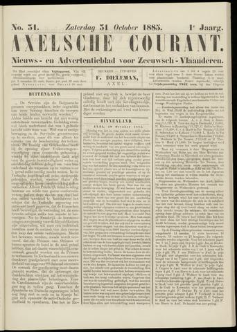 Axelsche Courant 1885-10-31