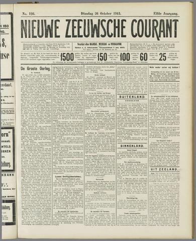 Nieuwe Zeeuwsche Courant 1915-10-26