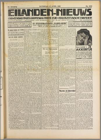 Eilanden-nieuws. Christelijk streekblad op gereformeerde grondslag 1939-04-15